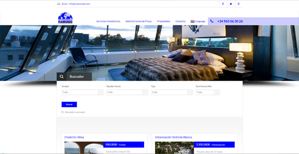 diseño web vyamundo