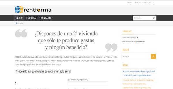 diseño web rentforma