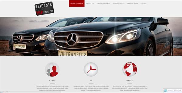 diseño web alicante vip transfer