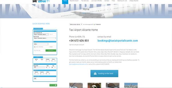 diseño web taxiairportalicante